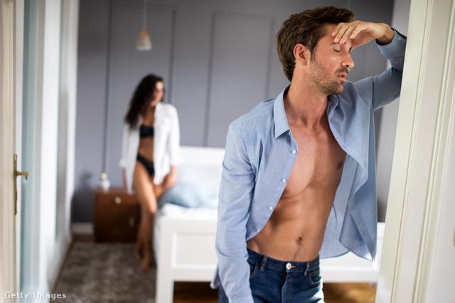 attól, hogy a férfiak merevedést kapnak ha nincs kenés egy merevedési férfinak